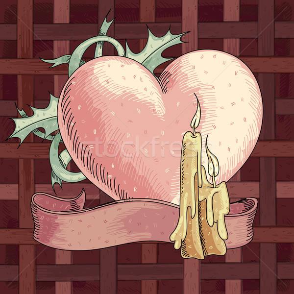 San valentino cuore illustrazione utile designer lavoro Foto d'archivio © Aqua