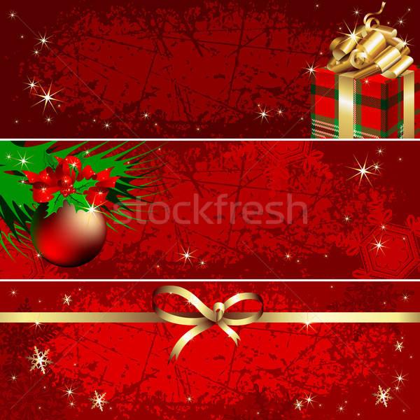 Foto stock: Natal · bandeira · ilustração · útil · estilista · trabalhar