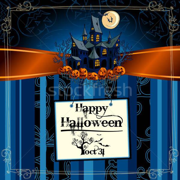 Halloween traditioneel symbolen abstract kat ontwerp Stockfoto © Aqua