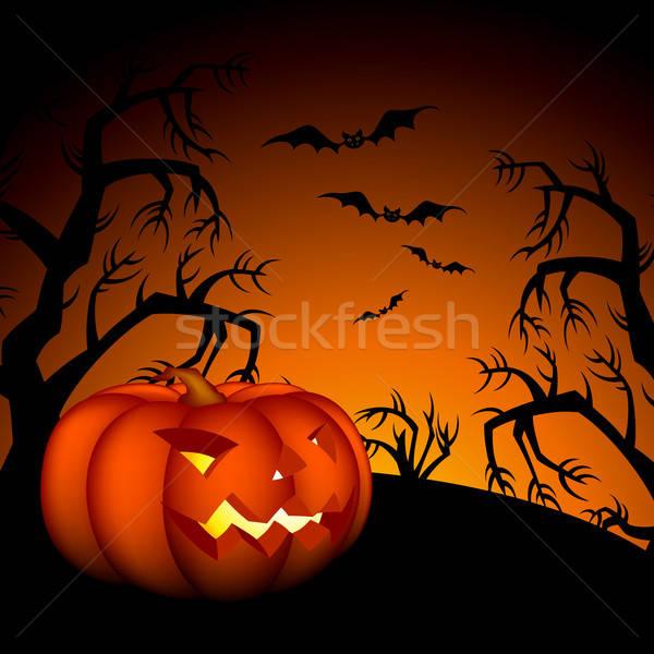 Halloween illustratie nuttig ontwerper werk frame Stockfoto © Aqua
