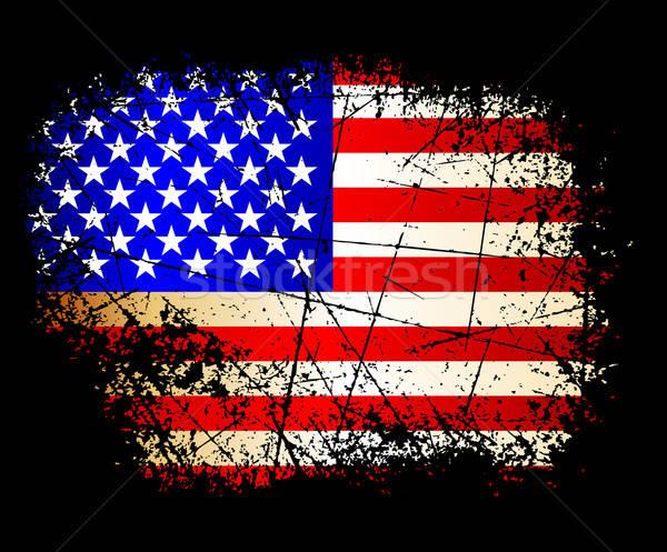 Foto stock: EUA · bandeira · ilustração · útil · estilista · trabalhar