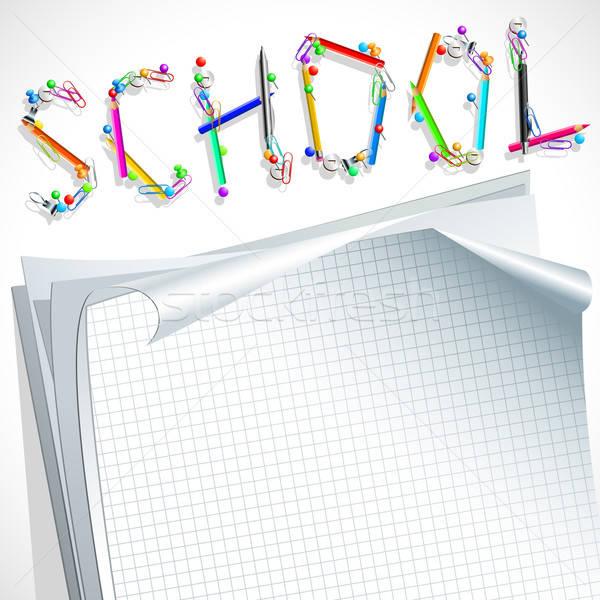 鉛筆 実例 便利 デザイナー 作業 子 ストックフォト © Aqua