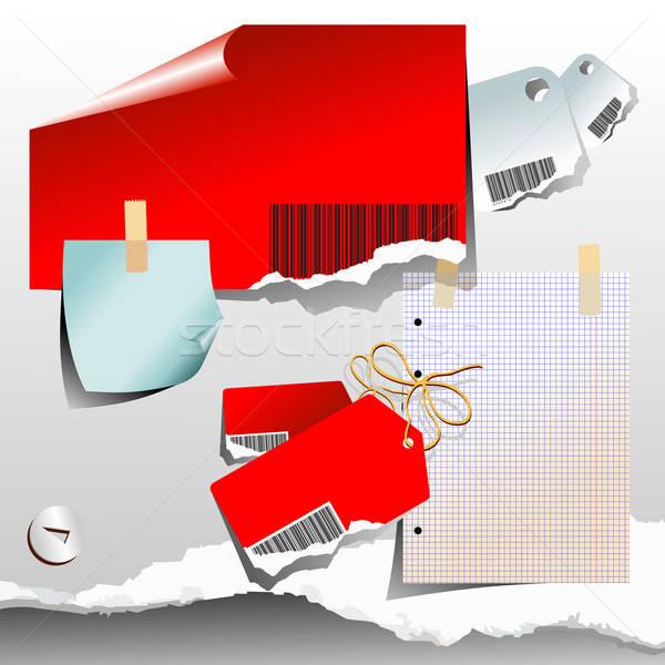 Ilustração útil estilista trabalhar vermelho Foto stock © Aqua