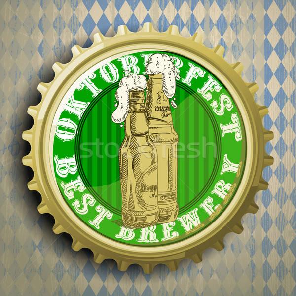 background with beer cap Stock photo © Aqua