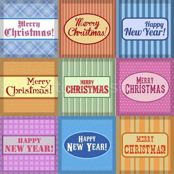 Noël bannières messages différent horizons Photo stock © Aqua