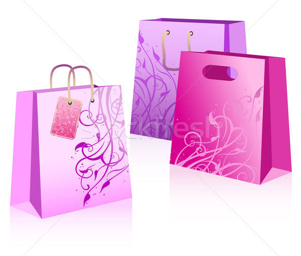 Stock photo: colored bags