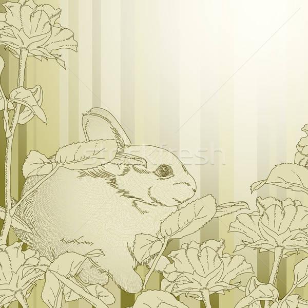 ウサギ 実例 便利 デザイナー 作業 紙 ストックフォト © Aqua