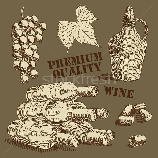 ワイン 実例 便利 デザイナー 作業 フルーツ ストックフォト © Aqua