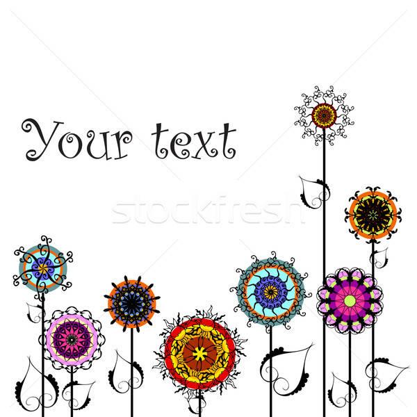 Résumé floral illustration utile designer travaux Photo stock © Aqua