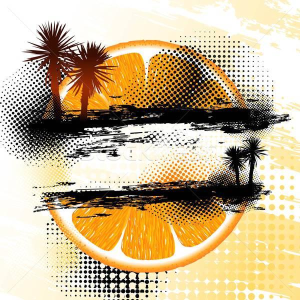 Arancione illustrazione utile designer lavoro business Foto d'archivio © Aqua