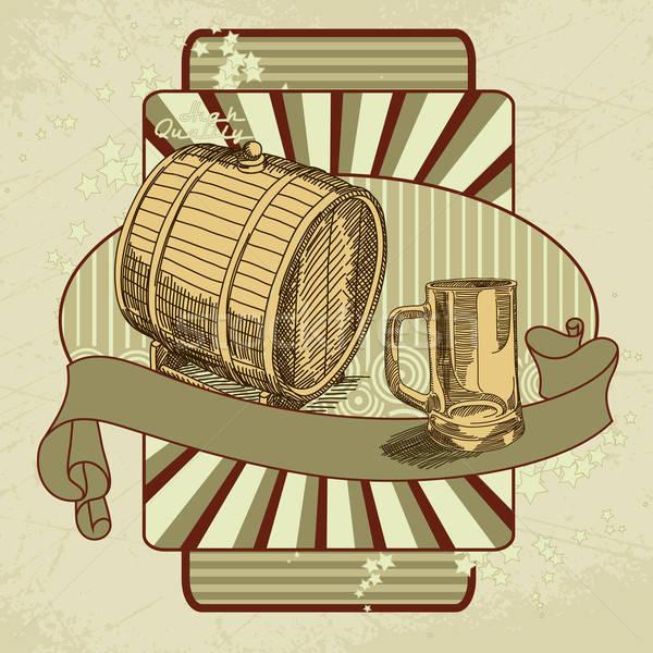 Birra tag illustrazione utile designer lavoro Foto d'archivio © Aqua