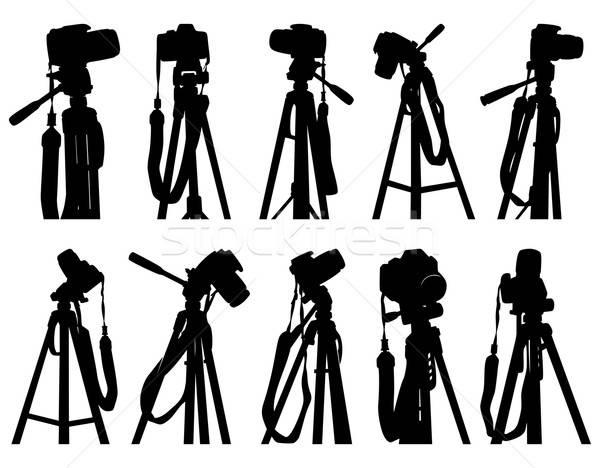 Conjunto câmeras ilustração lata usado luz Foto stock © Aqua