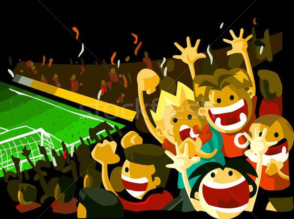 Soccer night match Stock photo © araga
