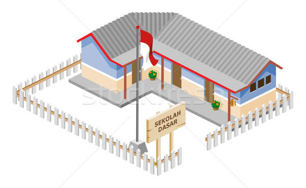 Poor School Isometric Stock photo © araga