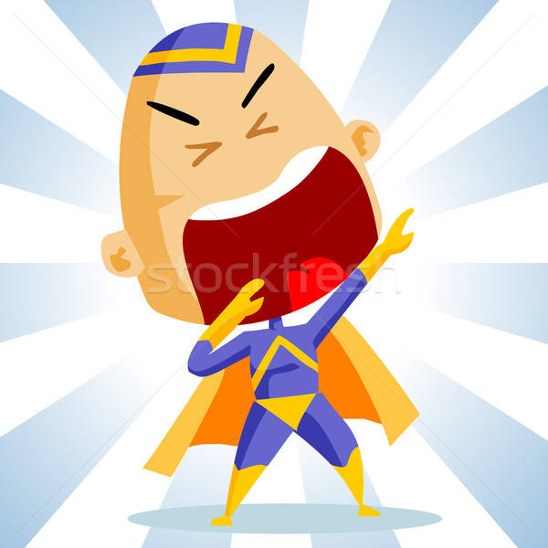 Kid play Superhero Stock photo © araga