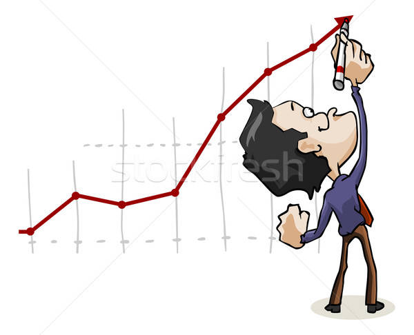 Lining success. Cartoon Series Stock photo © araga