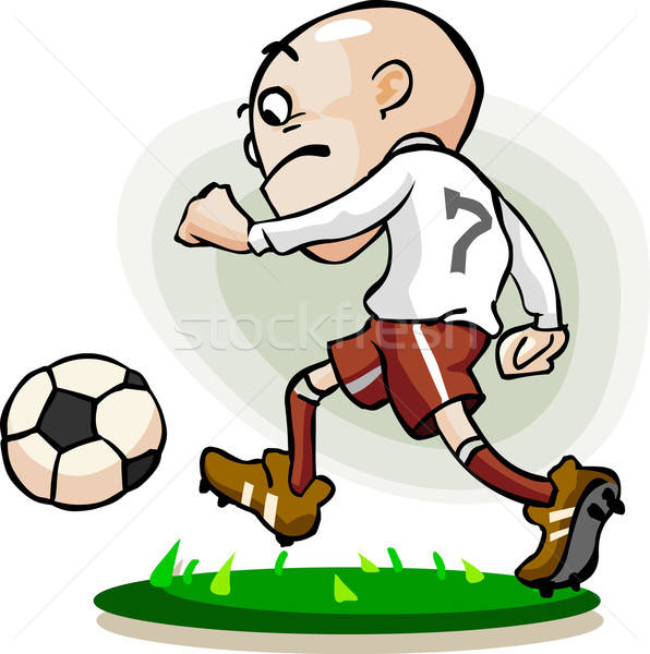 Dribble soccer player Stock photo © araga
