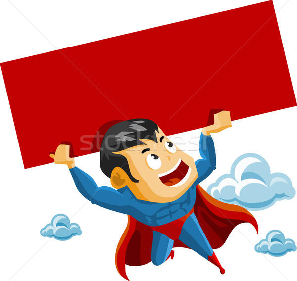 Superhero lifts Sign Stock photo © araga