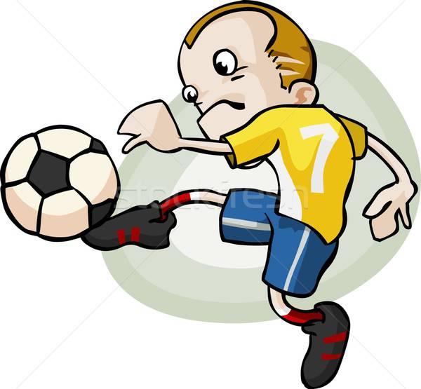 Soccer Player Cartoon. Stock photo © araga