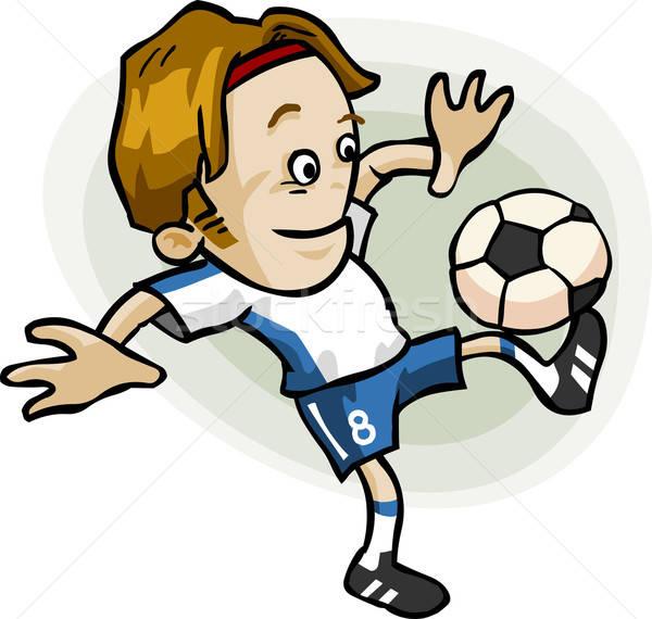 футболист Cartoon подробный Футбол вектора свободный Сток-фото © araga