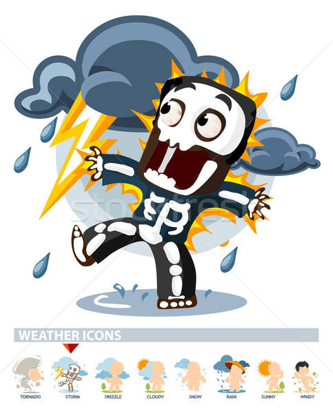 Thunderstorm. Weather Icon Stock photo © araga