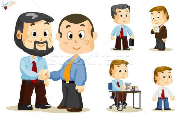 Shaking Hand. Business People Stock photo © araga