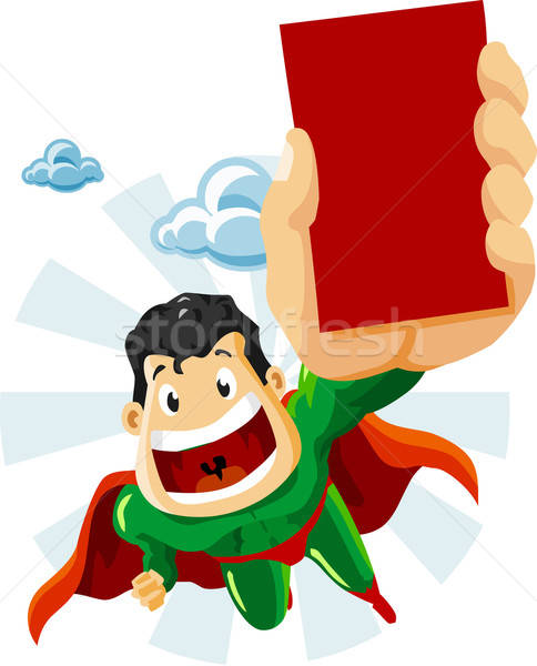 Superhero with Ads Stock photo © araga