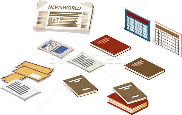 Book and other Isometric Items Stock photo © araga