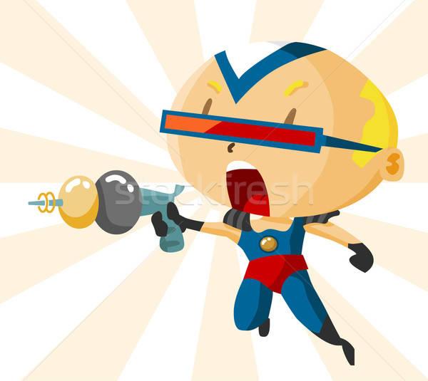 Kid superhero подробный фильма весело Сток-фото © araga