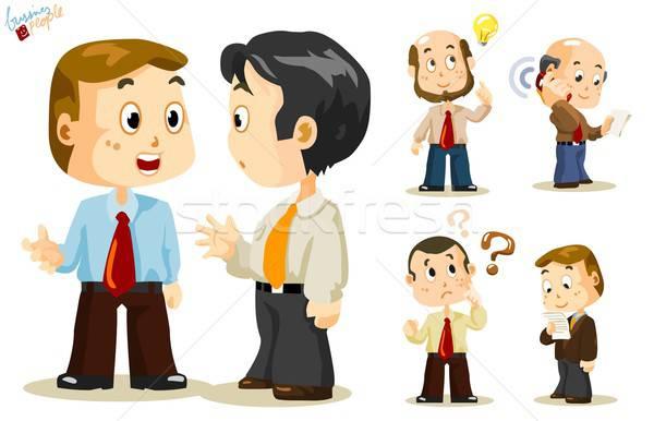 Zakenlieden ingesteld mensen business activiteit kantoor Stockfoto © araga