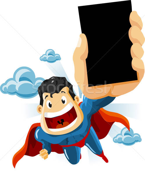 Superhero for Commercials Stock photo © araga
