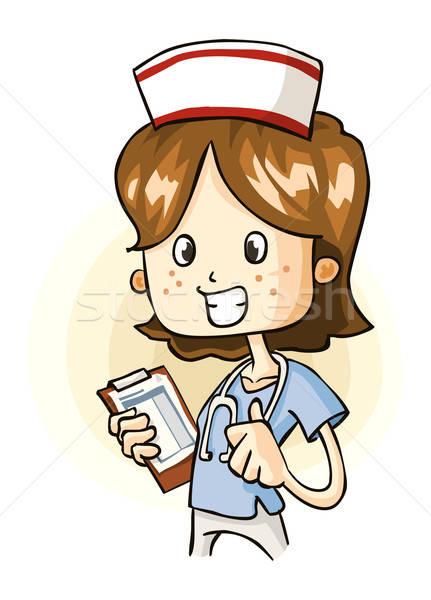 молодые медсестры свежие подробный вектора Cartoon Сток-фото © araga