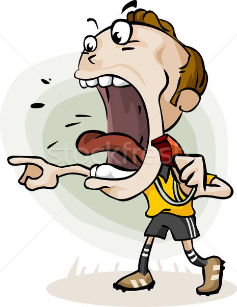 Soccer Referee Cartoon Stock photo © araga