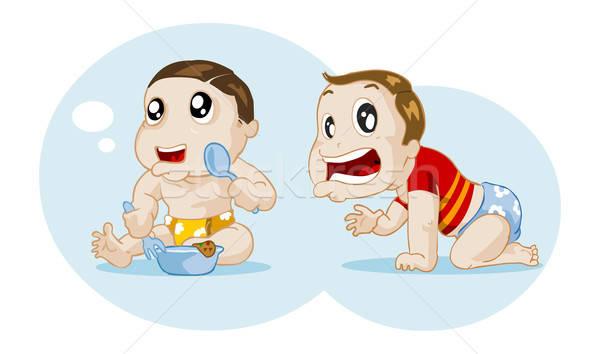 Baby gedetailleerd geïsoleerd witte jongen kid Stockfoto © araga