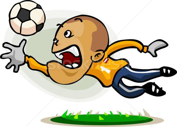 Voetballer cartoon gedetailleerd voetbal vector gratis Stockfoto © araga