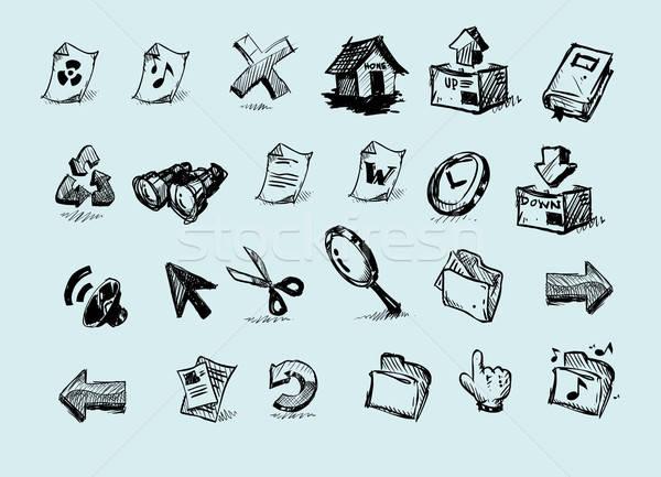 Internet ikon rajz számítógép Stock fotó © araga
