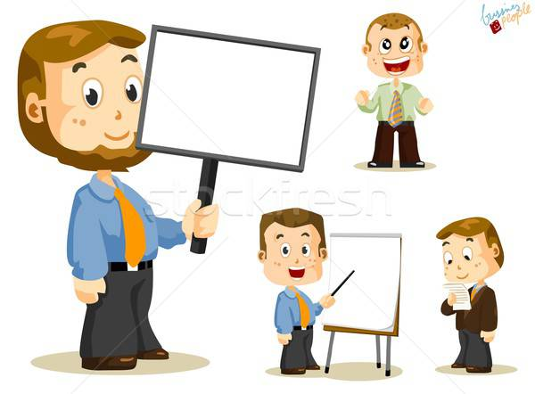Bericht boord zakenlieden ingesteld mensen business Stockfoto © araga