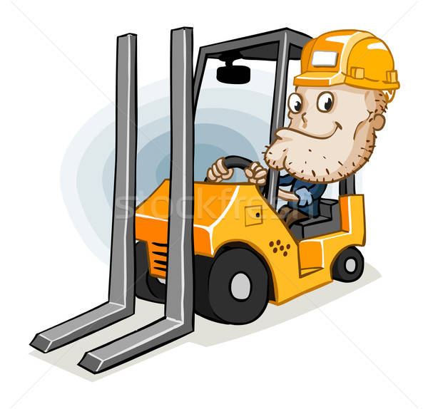 Forklift and Labor Stock photo © araga
