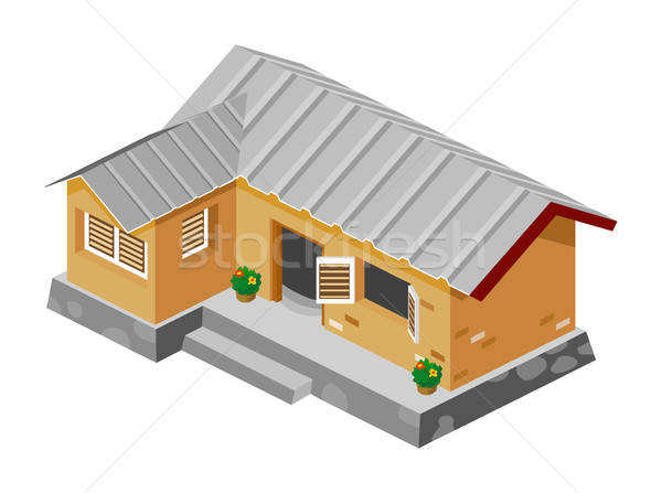 Poor African House Stock photo © araga
