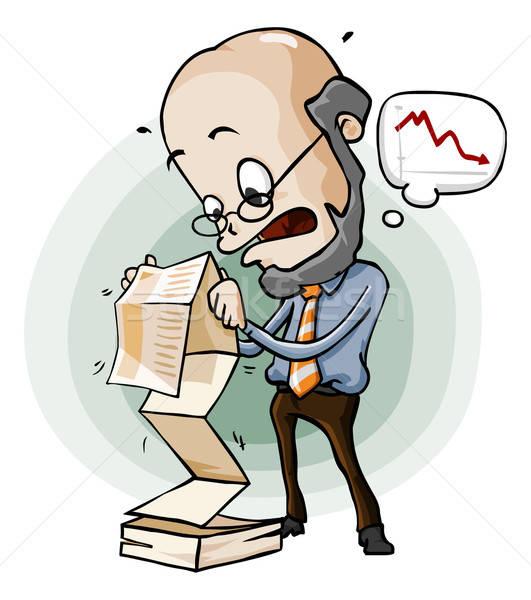 Panico vendita relazione cartoon ufficio carta Foto d'archivio © araga