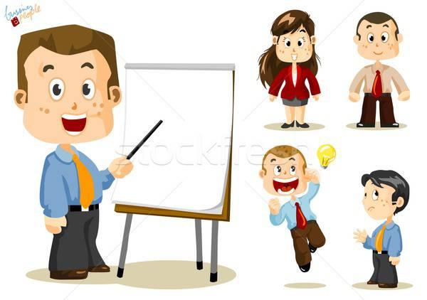 Stock fotó: üzletemberek · szett · emberek · üzlet · tevékenység · iroda