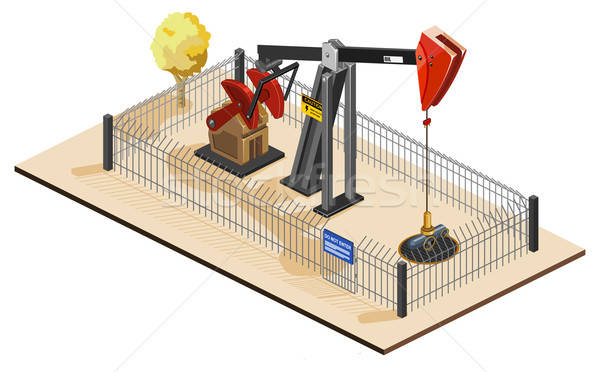 Oil Pump Isometric Stock photo © araga