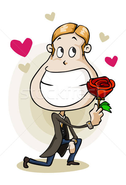Propose for Love in valentine day. Stock photo © araga