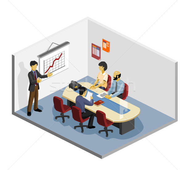Presentation Isometric Stock photo © araga