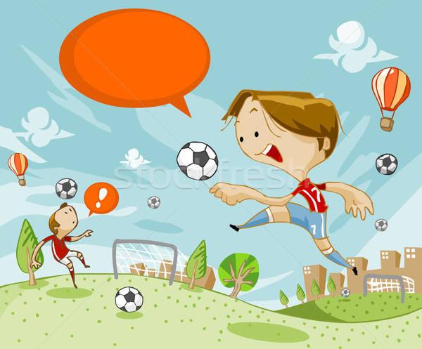 Футбол подготовки области зеленый Top нижний Сток-фото © araga