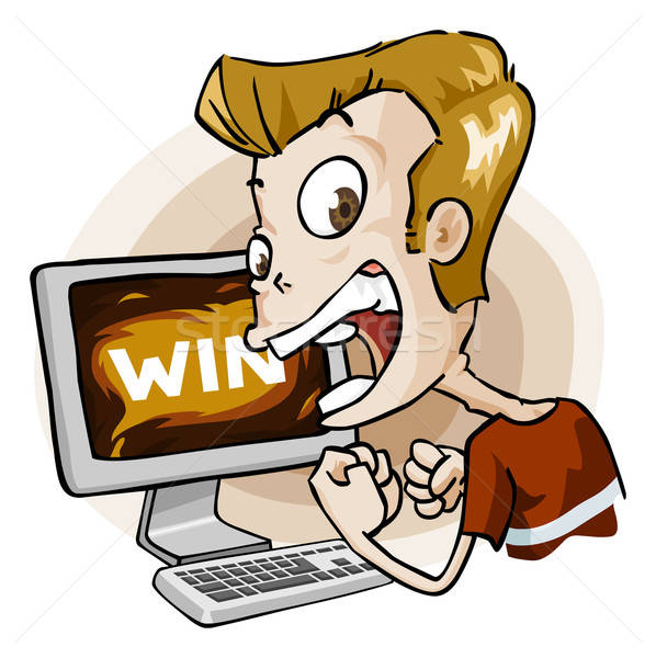 Win in Game. Cartoon Series Stock photo © araga