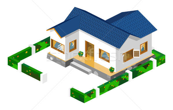 Rich House Isometric Stock photo © araga