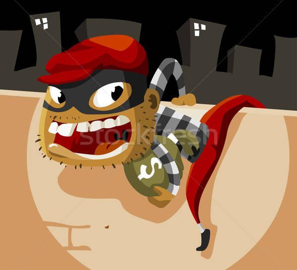 Criminal ladrão atividade detalhado dinheiro segurança Foto stock © araga