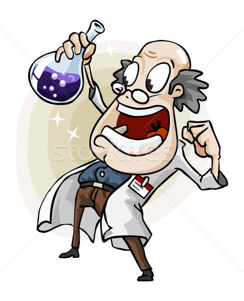 Scientist with Invention. Stock photo © araga