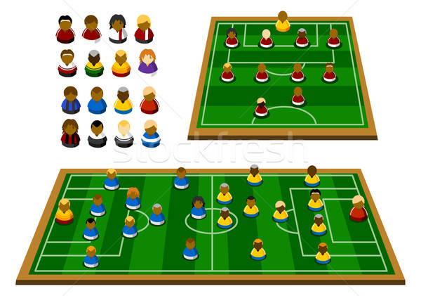 サッカー フォーメーション スキーマ 計画 戦略 図 ストックフォト © araga
